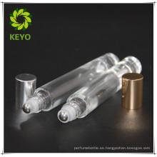 Vial forma vidrio 5ml 10 ml rollo en botella para embalaje cosmético de aceite esencial