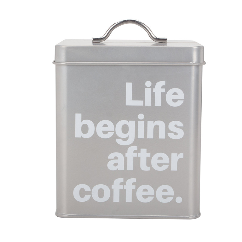 Metal Coffee Sugar Tea Canister Set