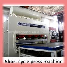 Machine de laminage mdf / machines à panneaux à base de bois / machine de laminage de mélamine à chaud