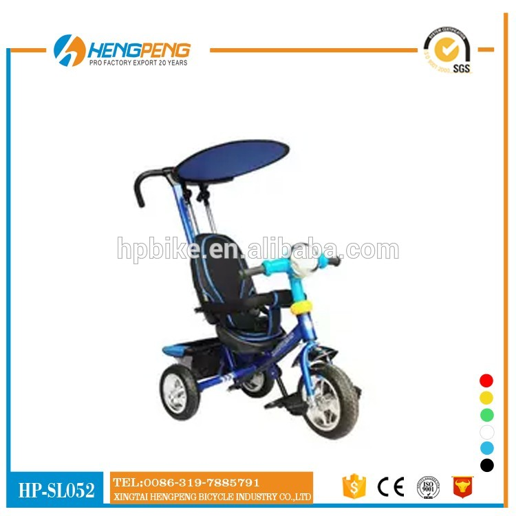 four in one function metal kids tricycle with canopy