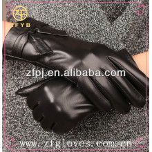 Conductive Fingertips Leather Touch Screen Gloves