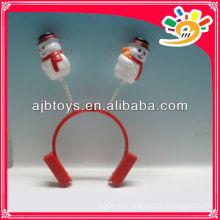 Hairclips de la decoración del muñeco de nieve de la Navidad, pequeño hairclip plástico del muñeco de nieve