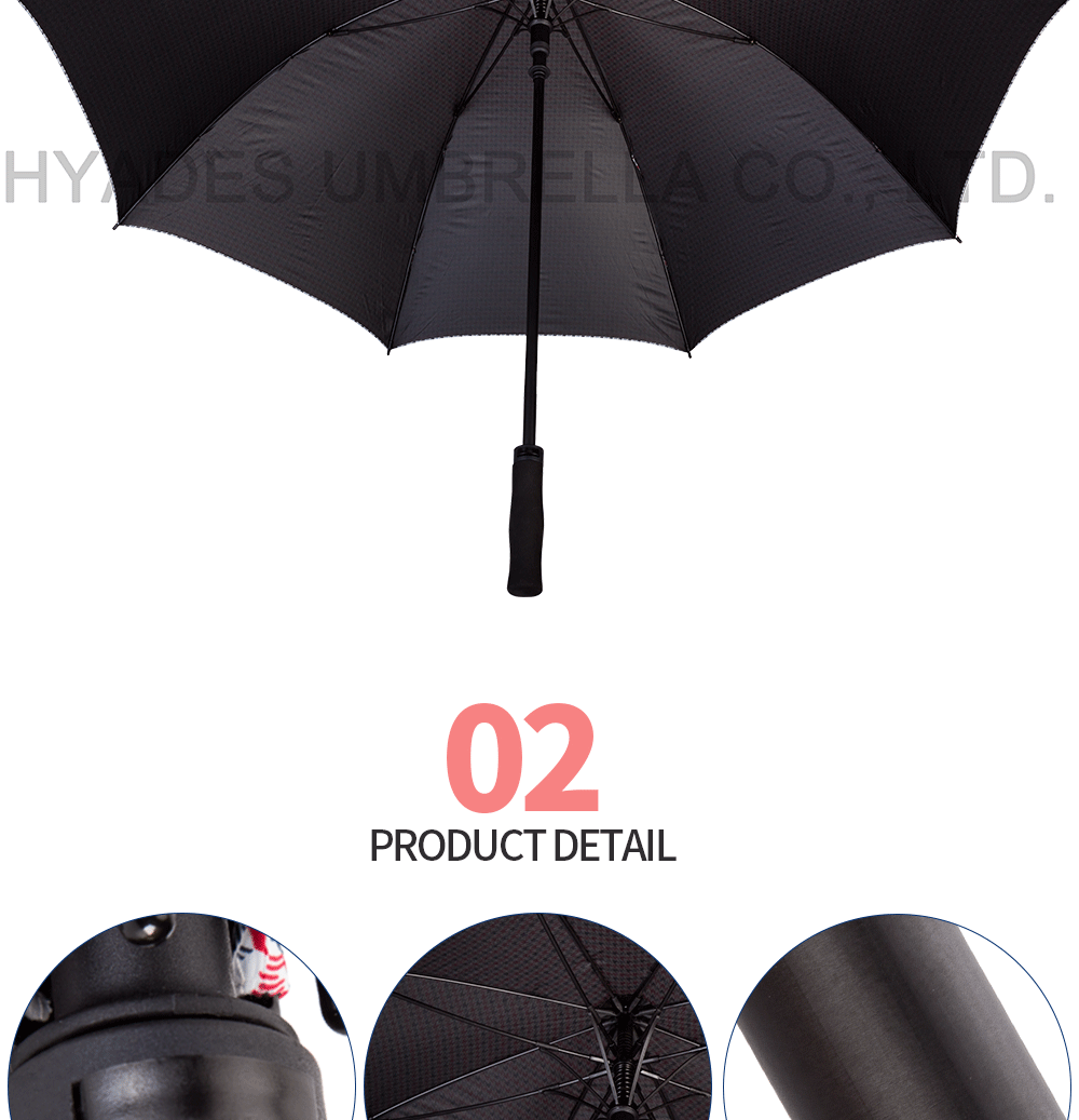 Auto Open Golf Umbrella printing fabric-