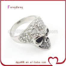 Aço inoxidável anel de caveira de prata por atacado
