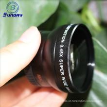Lente de câmera de alta qualidade 37mm lente grande angular UV46 0.45X