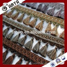 Stock de marchandises petite frange de gomme pour rideau déco et décoration de lampe