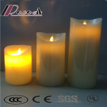 White Romantic LED Simulation Remote Control Candle Lamp for Restaurant