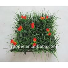 Ajardinar la estera artificial de la hierba para la decoración del jardín, seto plástico