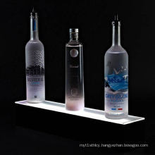 Single Step Lighted Acrylic Liquor Display, Illuminated Bottle Racks