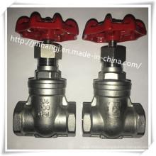 Запорный клапан, резьбовой конец 200wog (резьбовой запорный клапан, запорная арматура из нержавеющей стали)