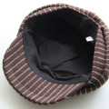 100% Polyester Felt Striped Ivy Cap
