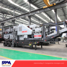 Malaisie concassant la pierre de machine, usine de traitement de minerai de cuivre