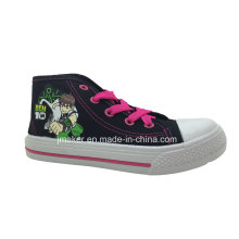 Asian Cool Cartoon High Ankle Children Sport Shoes Sneaker (X169-S&B)