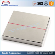 High quality rare earth strong NdFeB 50x50x2.5mm thin square Permanent magnet