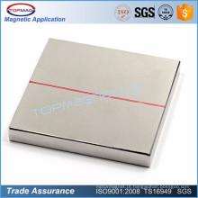 Calibre forte NdFeB 50x50x2.5mm quadrado fino de alta qualidade de alta qualidade Ímã permanente