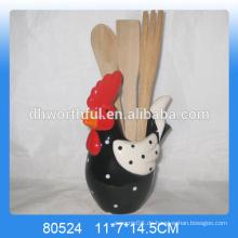Neuankömmlinge !! Keramik Küchenutensilien Halter mit Hühnerform