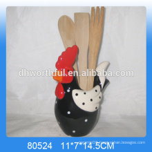New arrivals!!ceramic kitchen utensils holder with chicken shape