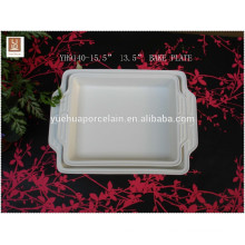 Microwave Rectangular Handle Baking Dish / Ceramic Pie Plate