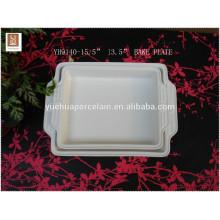 Выпечка микроволновой прямоугольной формы / керамическая круглая пластина