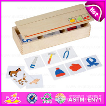2015 Educational Wooden Domino Toy for Kids, Creative Domino Game Toy for Children, Best Seller Wooden Domino Toy Play Set W15A055