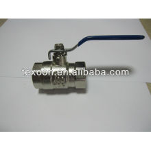 nickel plated reducing port brass ball valve with new bonnet steel handle light duty 400psi
