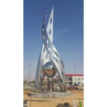 Arabie Saoudite art olive moderne jardin extérieur sculpture miroir finition shengfa