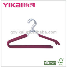 Conjunto de 3pcs espuma EVA revestido cabides de metal com barra de calças