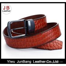 Модный мужской проложенный кожаный пояс с реверсивной пряжкой