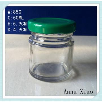 Mini Airtight Glass Honey Jars with Twist-off Lids 50ml