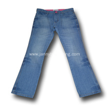 girls light blue wash flare jeans