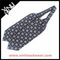 Geometrical Silk Jacquard Blue Tie Ascot Cravat