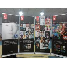 Wide Roller Base Retractable Banner Impressão a cores