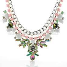 Arco iris acrílico encantador collar accesorios de perlas