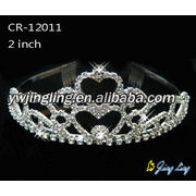 Heart Bridal Accessories Hair Crowns