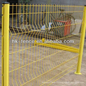 Clôture de clôture de jardin enduit de PVC