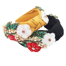 Crystal Flower Fabric Wide Design Headband Luxury Hair Accessories Vingtage Retro Hand-woven Hairband Party Feast Gift Wholesale