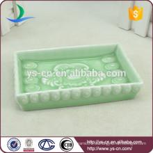 Blumen-Design blau und weiß Porzellan Seifenschale für Dusche