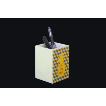 Pineapple Pattern Acrylic Pen Holder