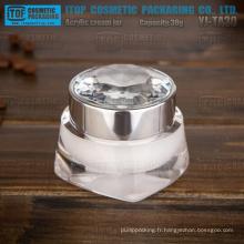 YJ-TA30 pure 30g et diamant épaississement cap double couches acrylique haut de gamme pot de crème