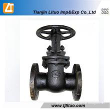Válvula de passagem de fio de ferro fundido