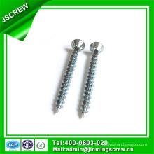 Acero cuadrado de acero inoxidable M3.5 de acero galvanizado tornillo avellanado