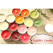Различная красочная свеча Tealight со 100% -м хлопковым фитилем