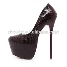Женская мода круглый носок платформе высоты, экстремально высокие каблуки, 16см Змея сексуальные насосы ночной клуб партии вечерние туфли женщин мода круглый носок платформе высоты, экстремально высокие каблуки, 16см Змея сексуальные насосы ночной клуб па