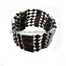 """Magnetische schwarze Glasperlen verpacken Armbänder u. Halskette 36 """""""