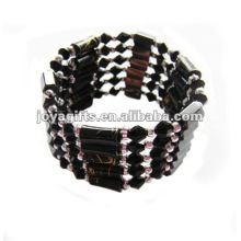 Magnetic Black Glass Beads wrap Bracelets & Necklace 36""