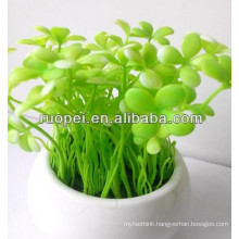 High imitation decorative artificial grass bonsai for decoration