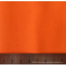 Tela tecida de sarja de algodão poliéster laranja