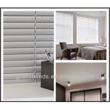 25mm Aluminiumslats metal headrail plastic wand tilt,cord lift rolls up Aluminum blinds