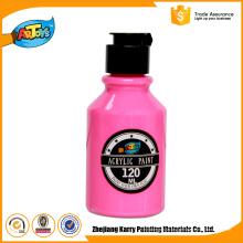 Pintura acrílica adulta de alta qualidade da garrafa da arte 120ML rosa da pintura feita sob encomenda