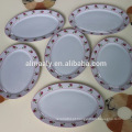 Diferente, decalque, porcelana, quadrado, oval, placa, cerâmico, quadrado, oval, prato
